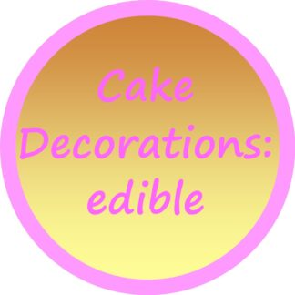 Cake Decorations: edible