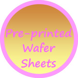 Pre-printed Wafer Sheets